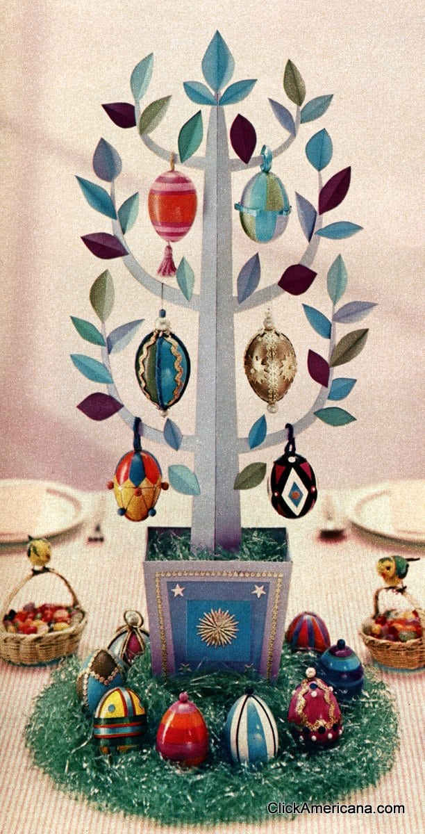 How to make an easter egg tree 1958 click americana How to make an easter egg tree