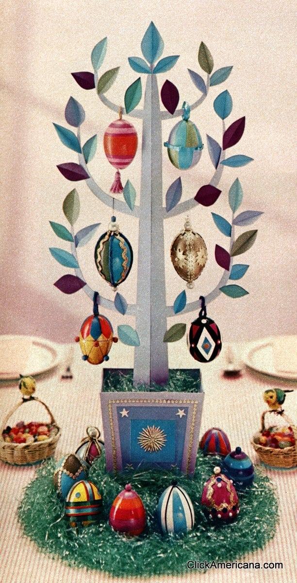 How to make an easter egg tree 1958 click americana How to make an easter egg tree