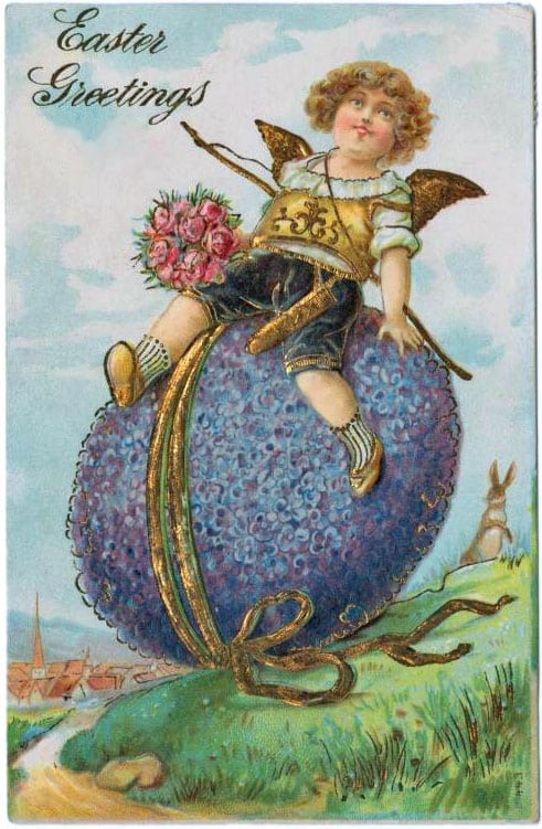 Cute old postcards with Easter greetings (1907)