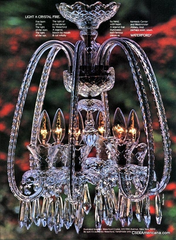 The wow factor waterford crystal chandeliers 1981 click waterford chandeliers aloadofball Images