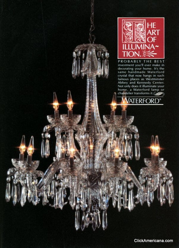 The Wow Factor Waterford Crystal Amp Chandeliers 1981