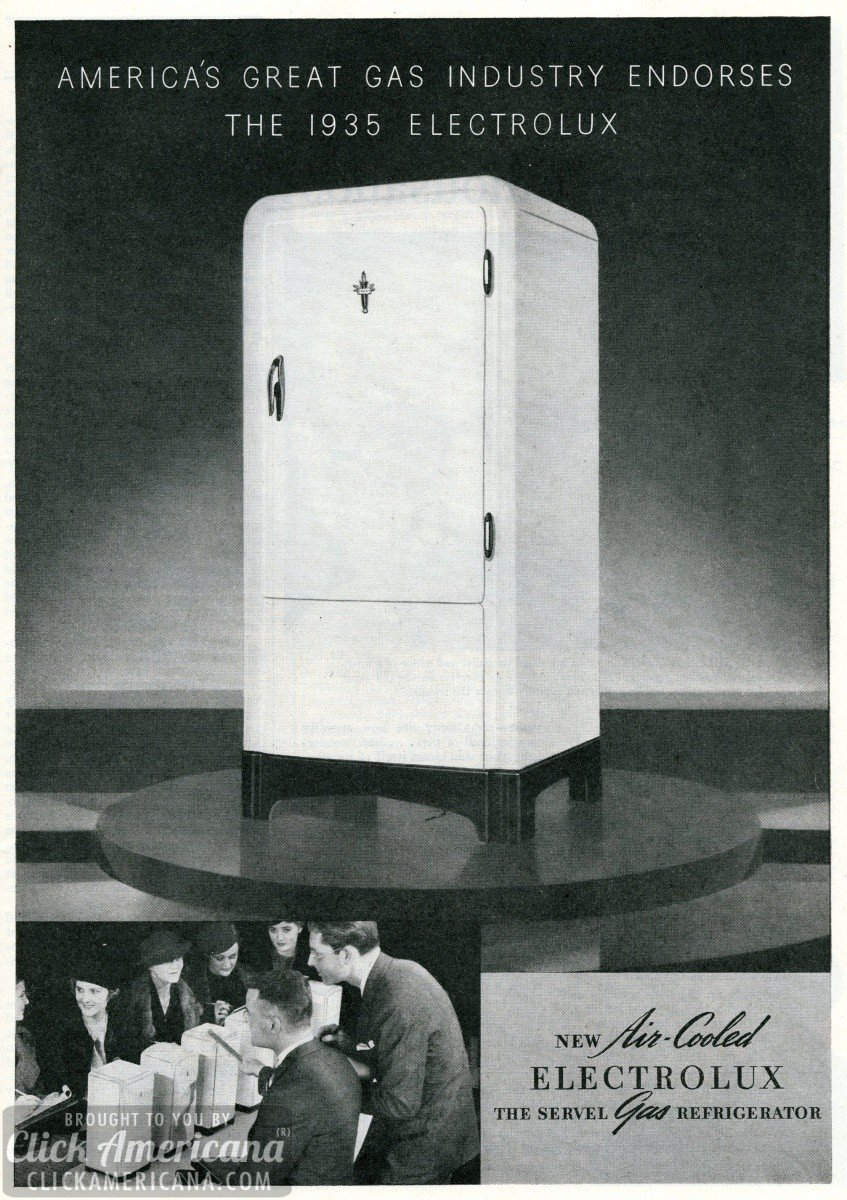 Electrolux refrigerators are almost magical – freezes with heat (1935)