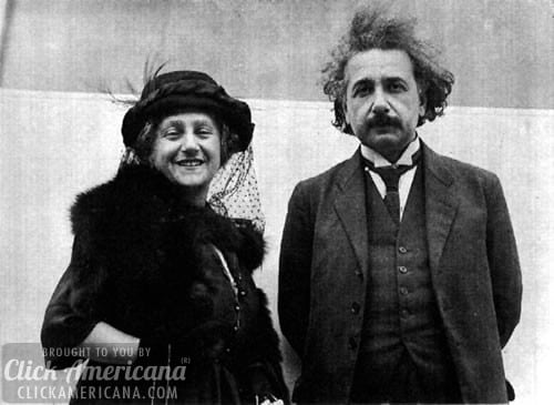 Einstein's wife understands him, but not his theory (1921)