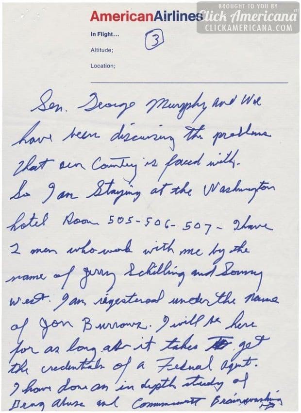 Elvis Presley's handwritten letter to President Nixon - Page 3