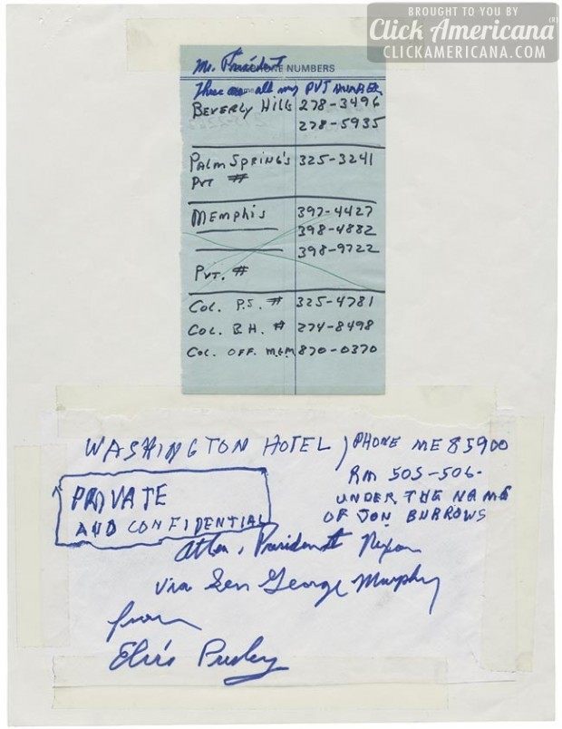 Elvis Presley's handwritten letter to President Nixon - Page 6
