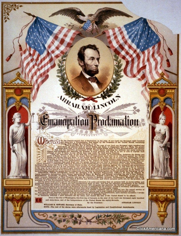 The Emancipation Proclamation – illustrated (1864-1896)