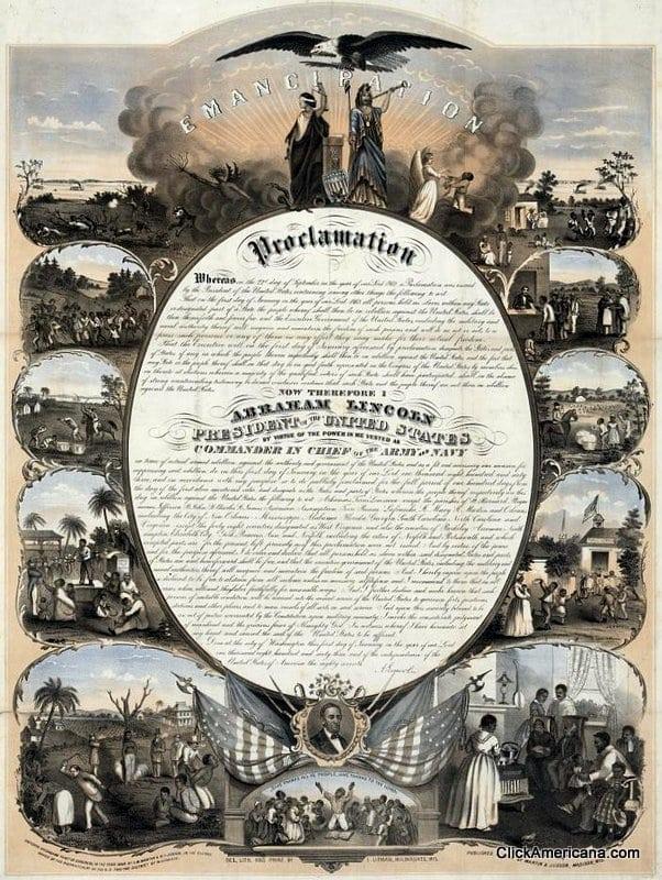 Emancipation proclamation thesis