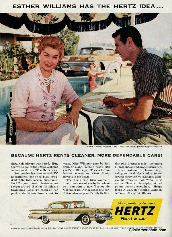 Esther Williams has the Hertz idea (1958)