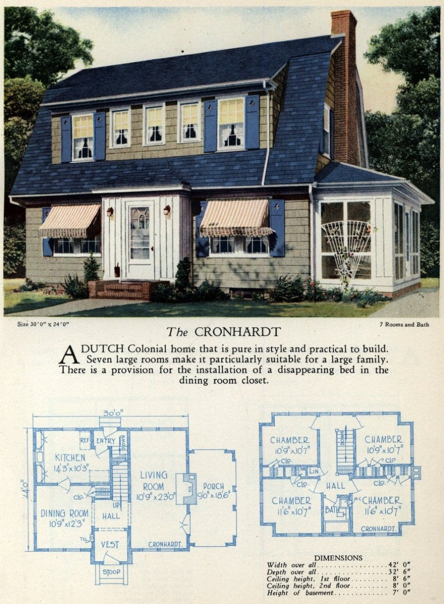62 beautiful vintage home designs & floor plans from the 1920s ...