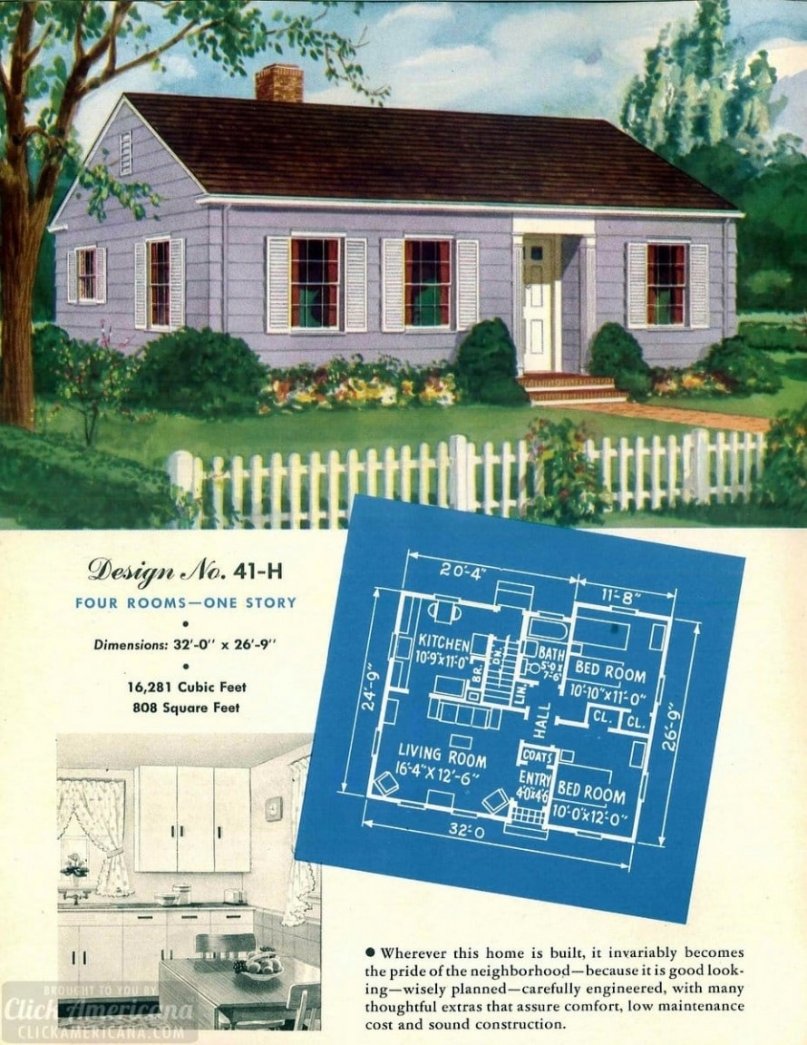130 Vintage 50s House Plans Used To Build Millions Of Mid Century