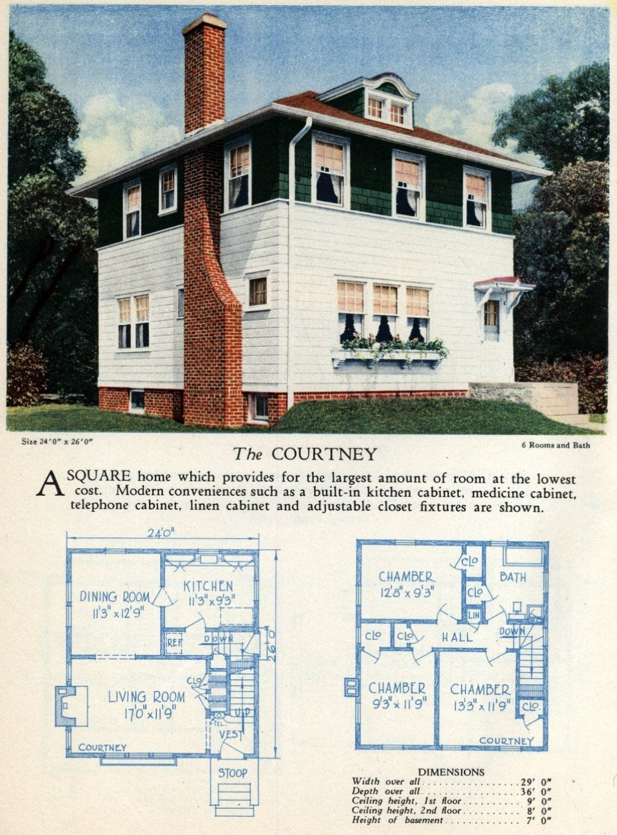 62 Beautiful Vintage Home Designs Floor Plans From The