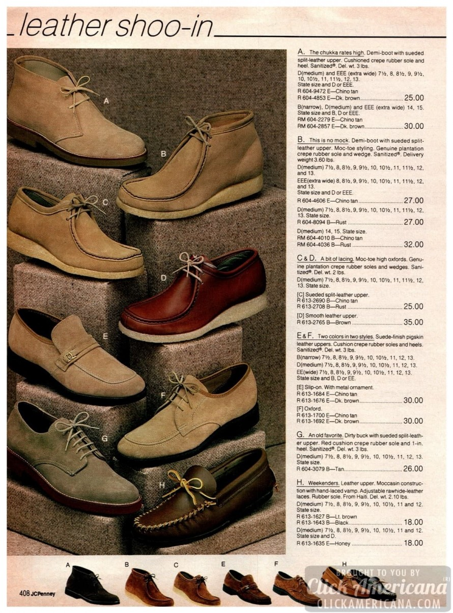 80s shoes for men: What stylish guys