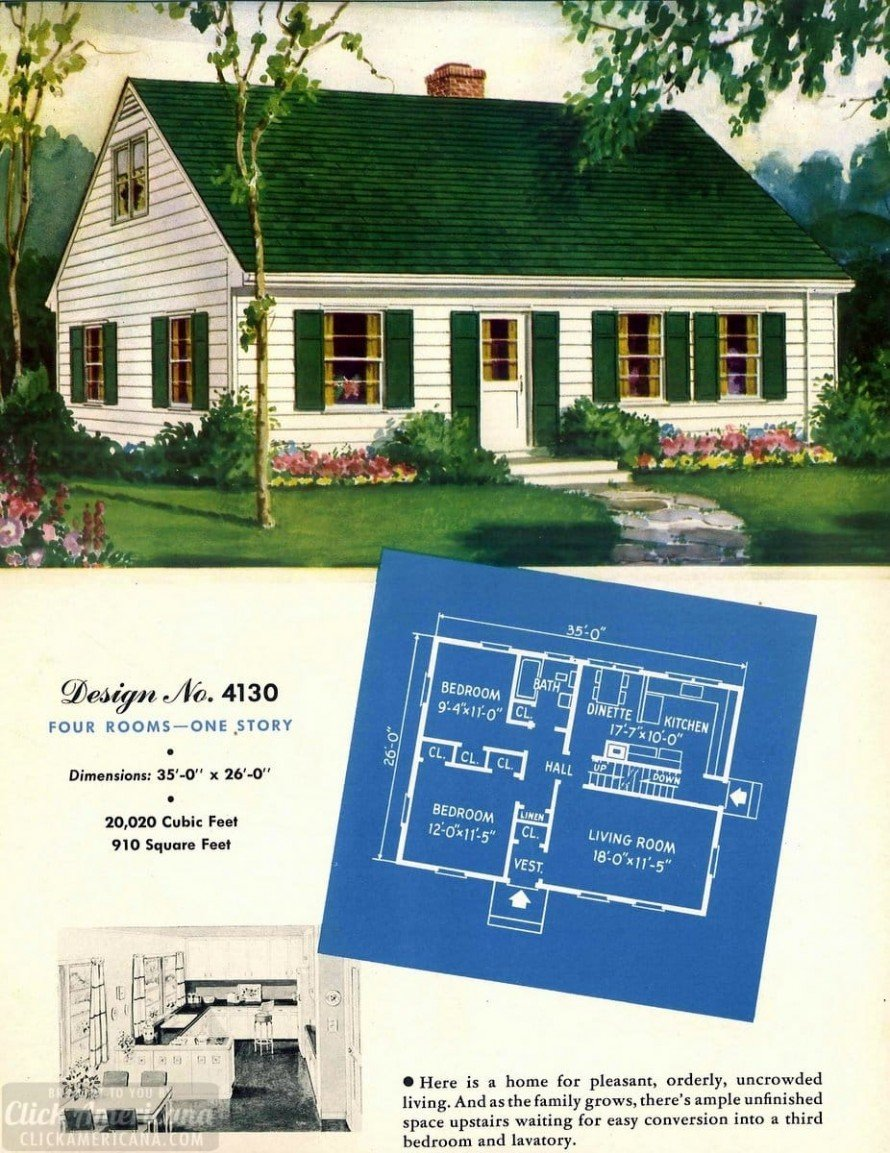 130 vintage '50s house plans used to build millions of mid ... on vintage rambler house plans, ranch rambler house plans, contemporary rambler house plans, modern rambler house plans,