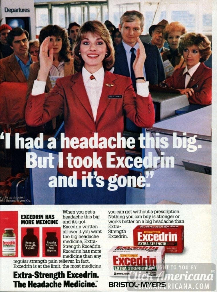Excedrin: I had a headache THIS big… (1985)