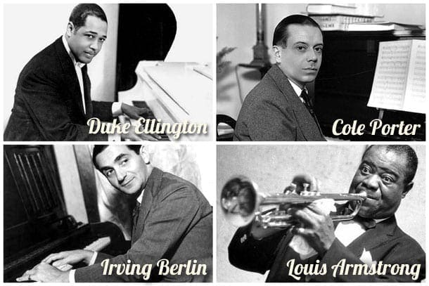 Draft registrations: Famous music men (1917-1918)