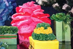 fancy ways to pouf-wrap gifts with tissue paper (1964)