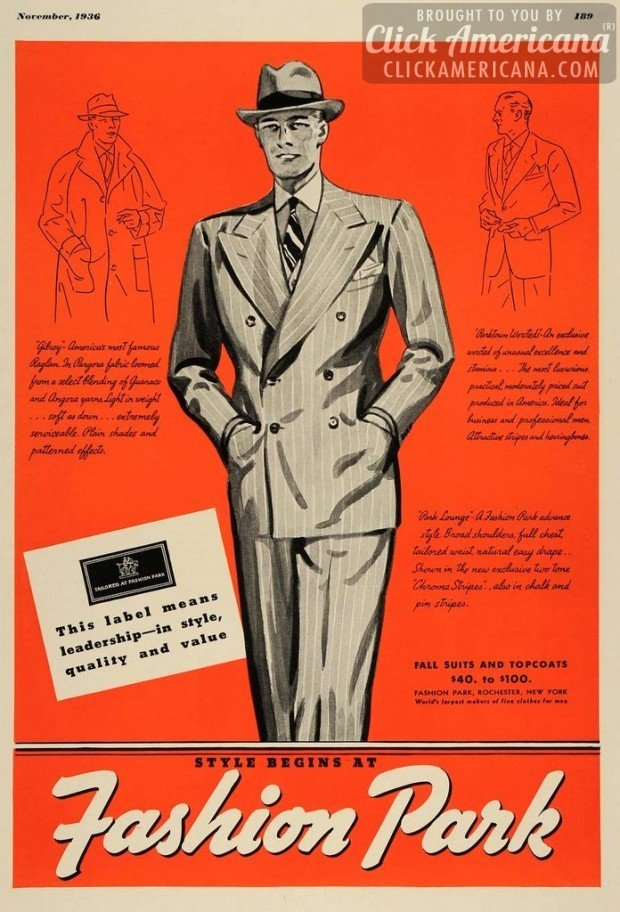 Image result for 1930s ad for men's suits