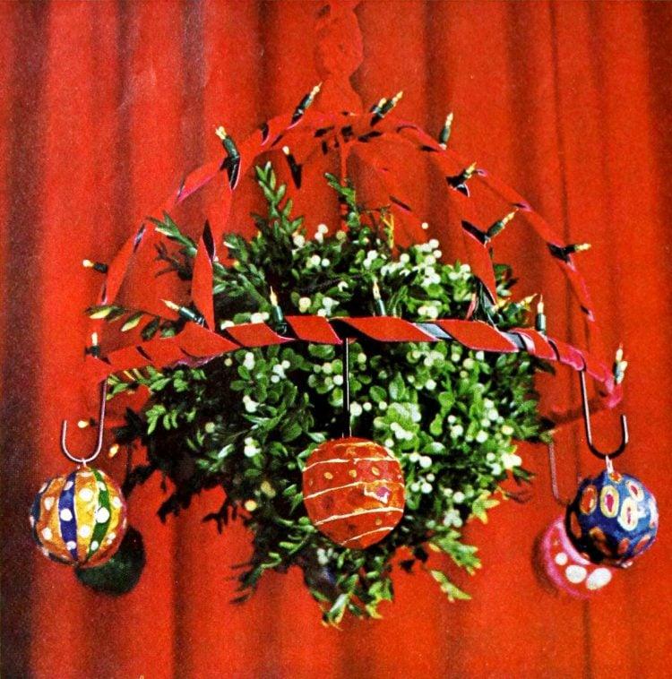festive papier-mache Christmas balls