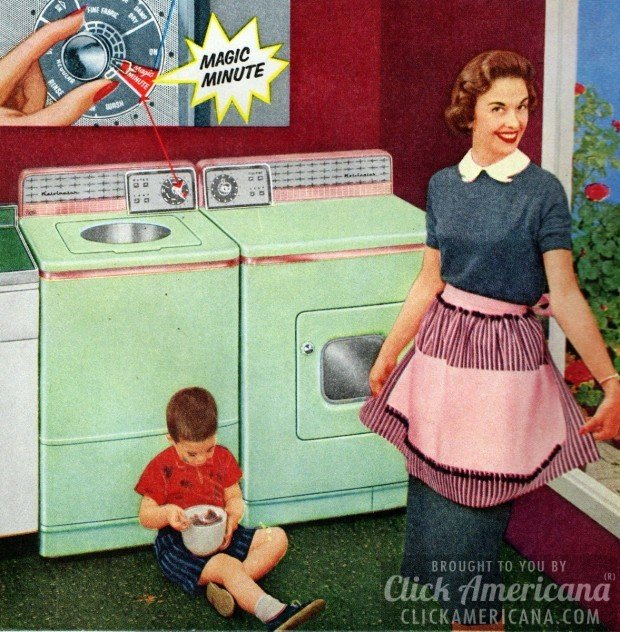 A happy housewife from 1957