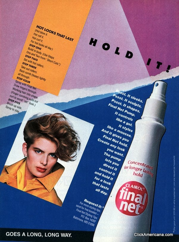 Controls Like A Gel Styles Like A Mousse 1985 Click