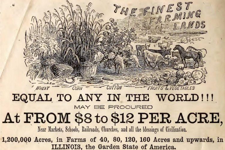fine farming land in illinois 1863