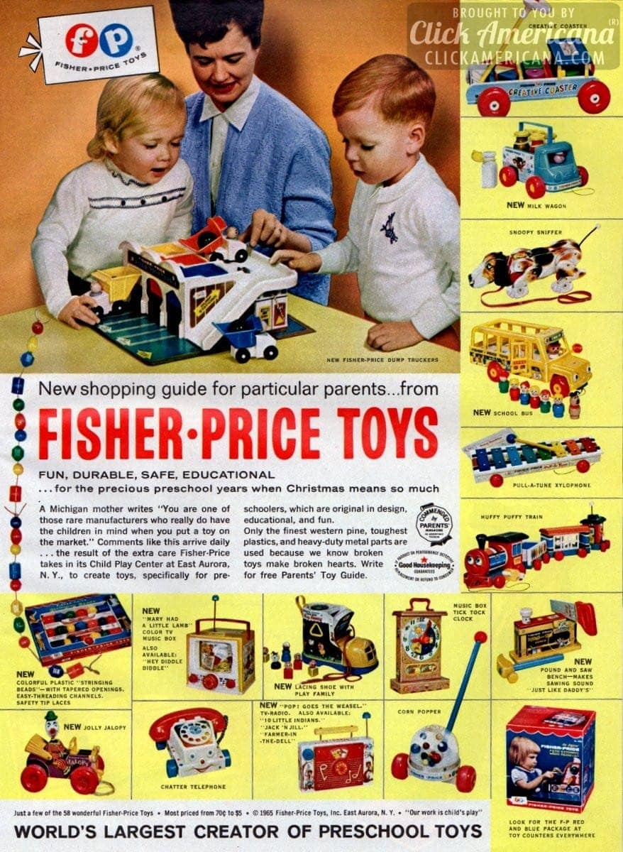 New Amp Classic Fisher Price Preschool Toys 1965 Click