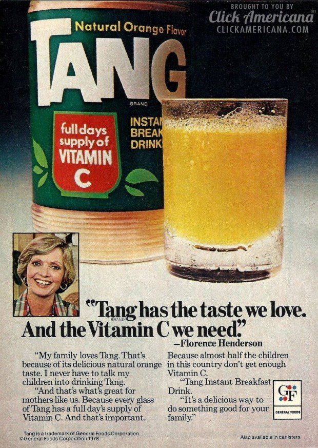 Florence Henderson S Family Loves Tang 1978 Click