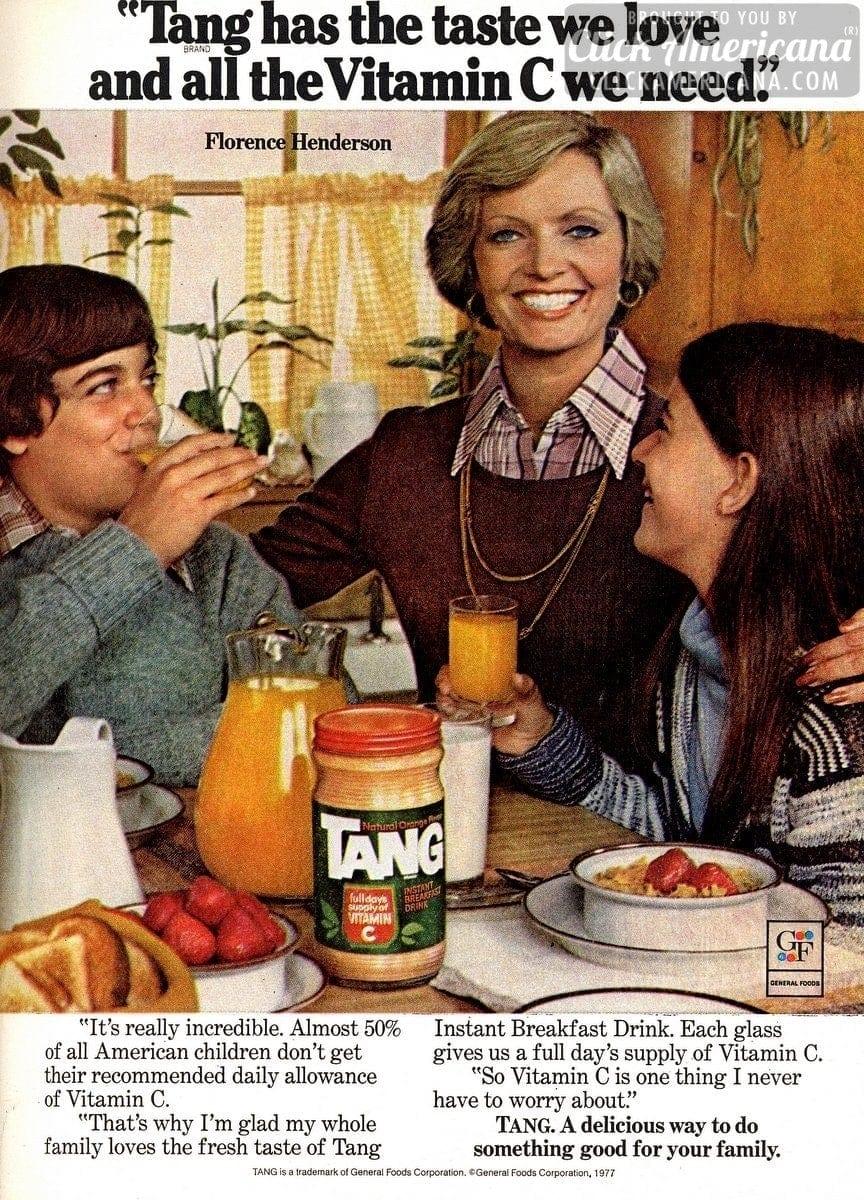 valentine's day meme for kids - Florence Henderson s family loves Tang 1978