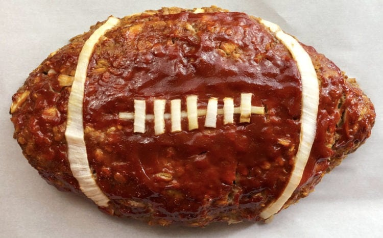 Football-shaped meatloaf