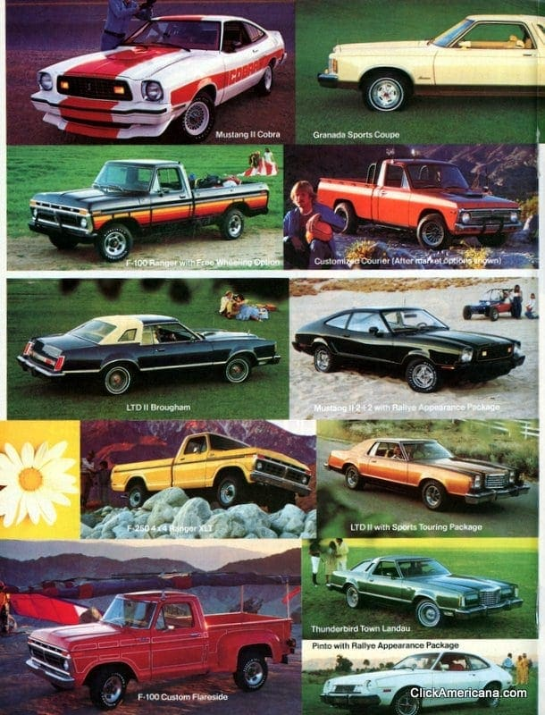 Ford cars - April 1977