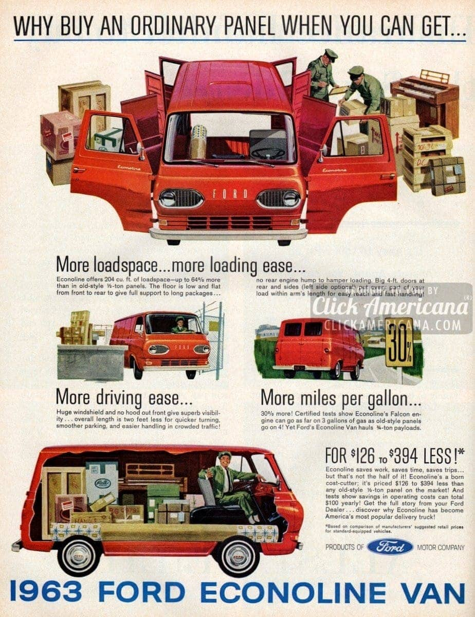 What a pickup! 1963 Ford Econoline Vans - Click Americana