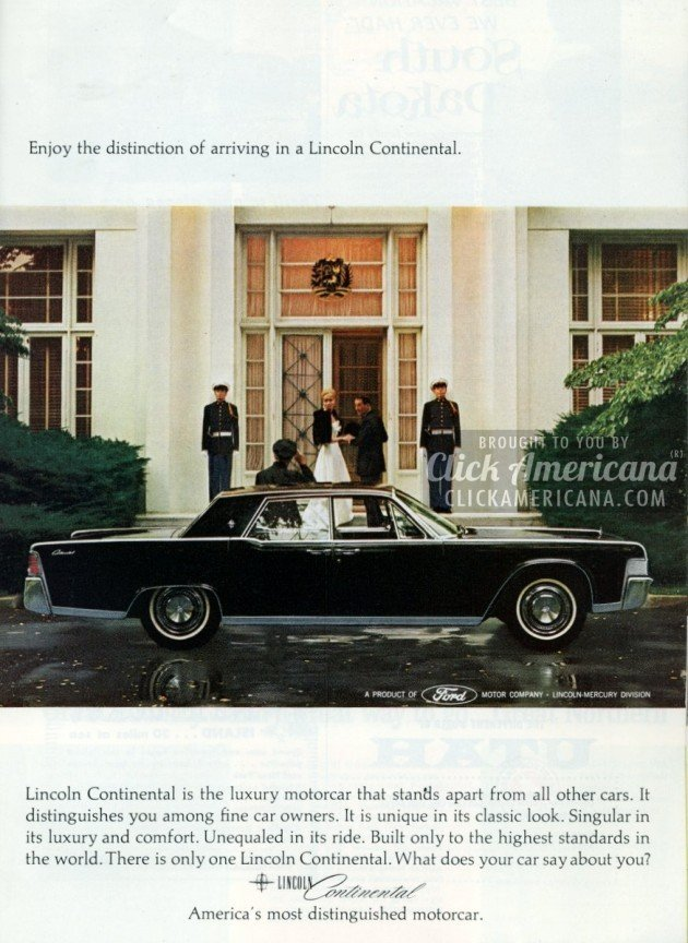 distinguished lincoln continentals from the mid sixties click americana. Black Bedroom Furniture Sets. Home Design Ideas