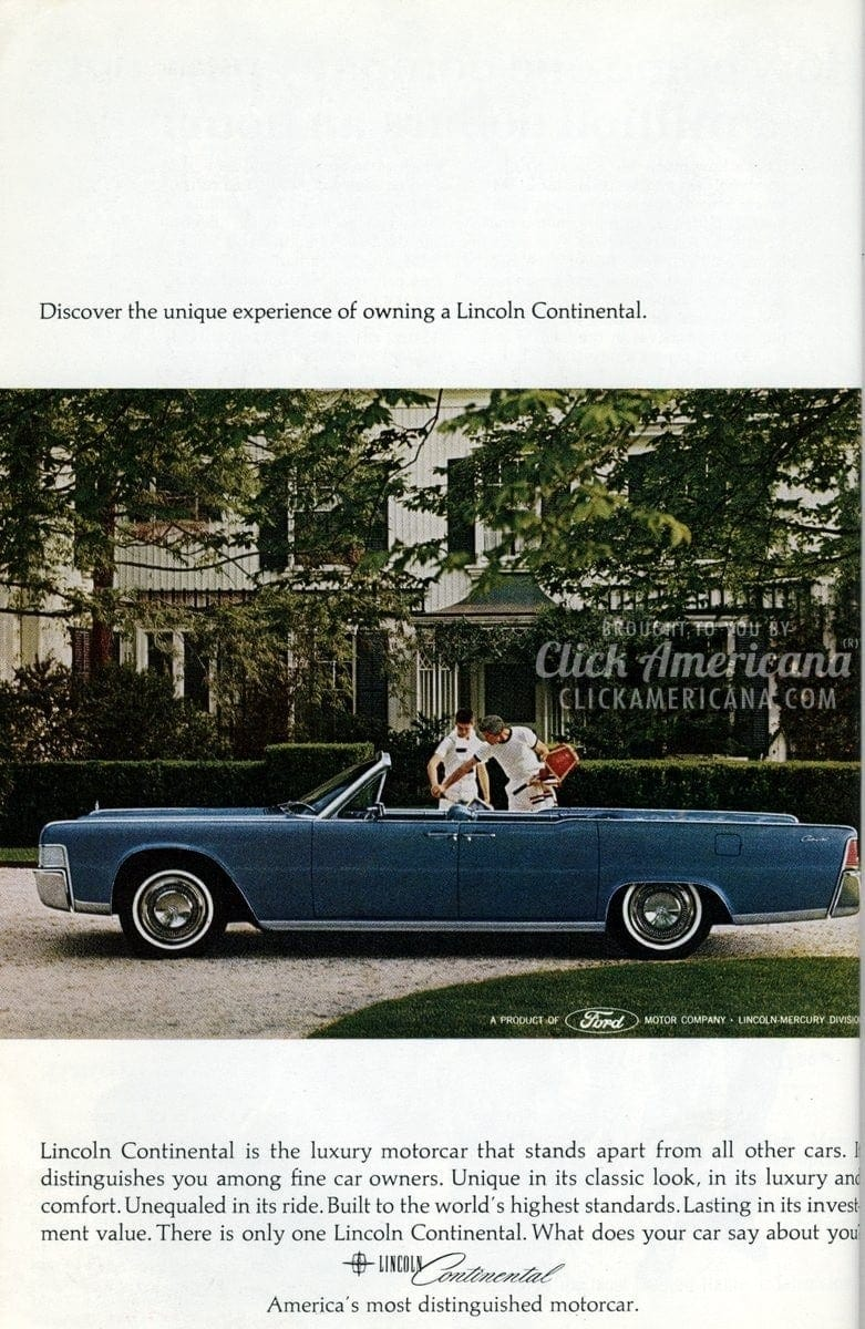 Distinguished Lincoln Continentals from the mid-sixties
