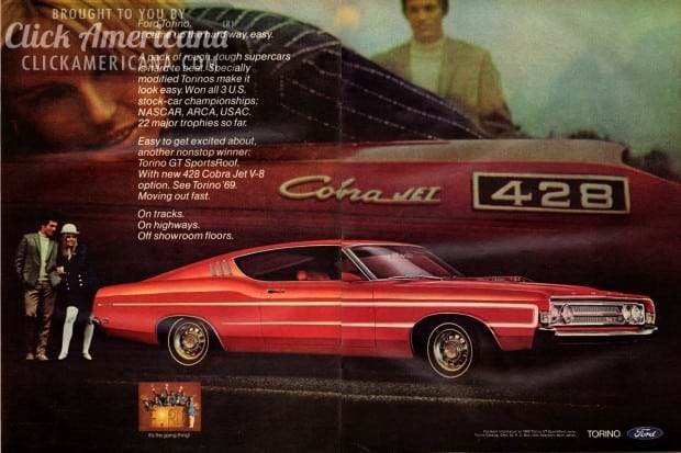 Ford Torino: On tracks. On highways. (1969) - Click Americana