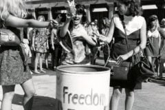 freedom trash can - bra burning - 1970