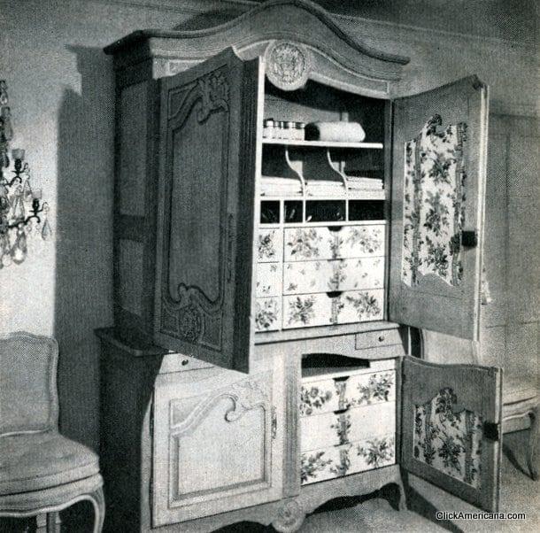 Bedroom extras: Storage & mirrors (1971)