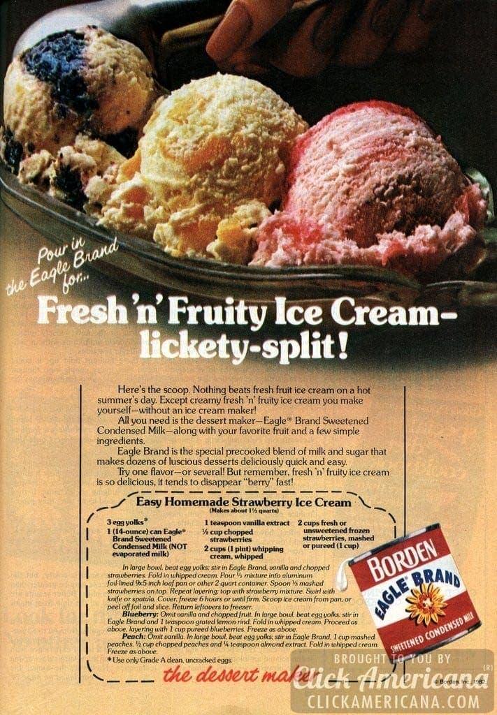 Fresh 'n fruity: Easy homemade strawberry ice cream (1982)