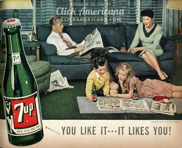 "Do things together! Be a ""Fresh up"" family with 7-Up (1946)"