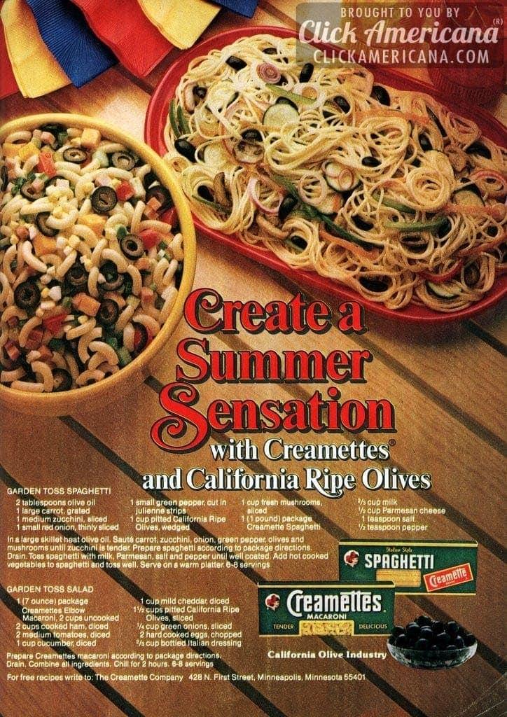 Garden toss spaghetti & salad recipes (1982)