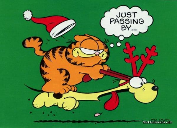 Classic 39 80s characters on christmas cards click americana - Garfield noel ...
