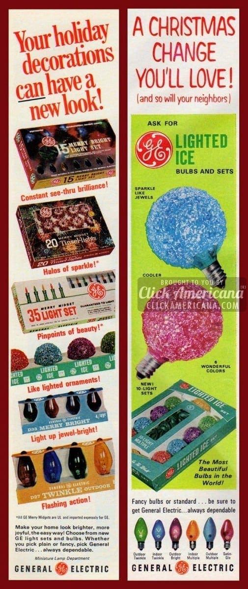 Ge Christmas Lights.Colorful Christmas Lights From Ge 1966 1968 Click