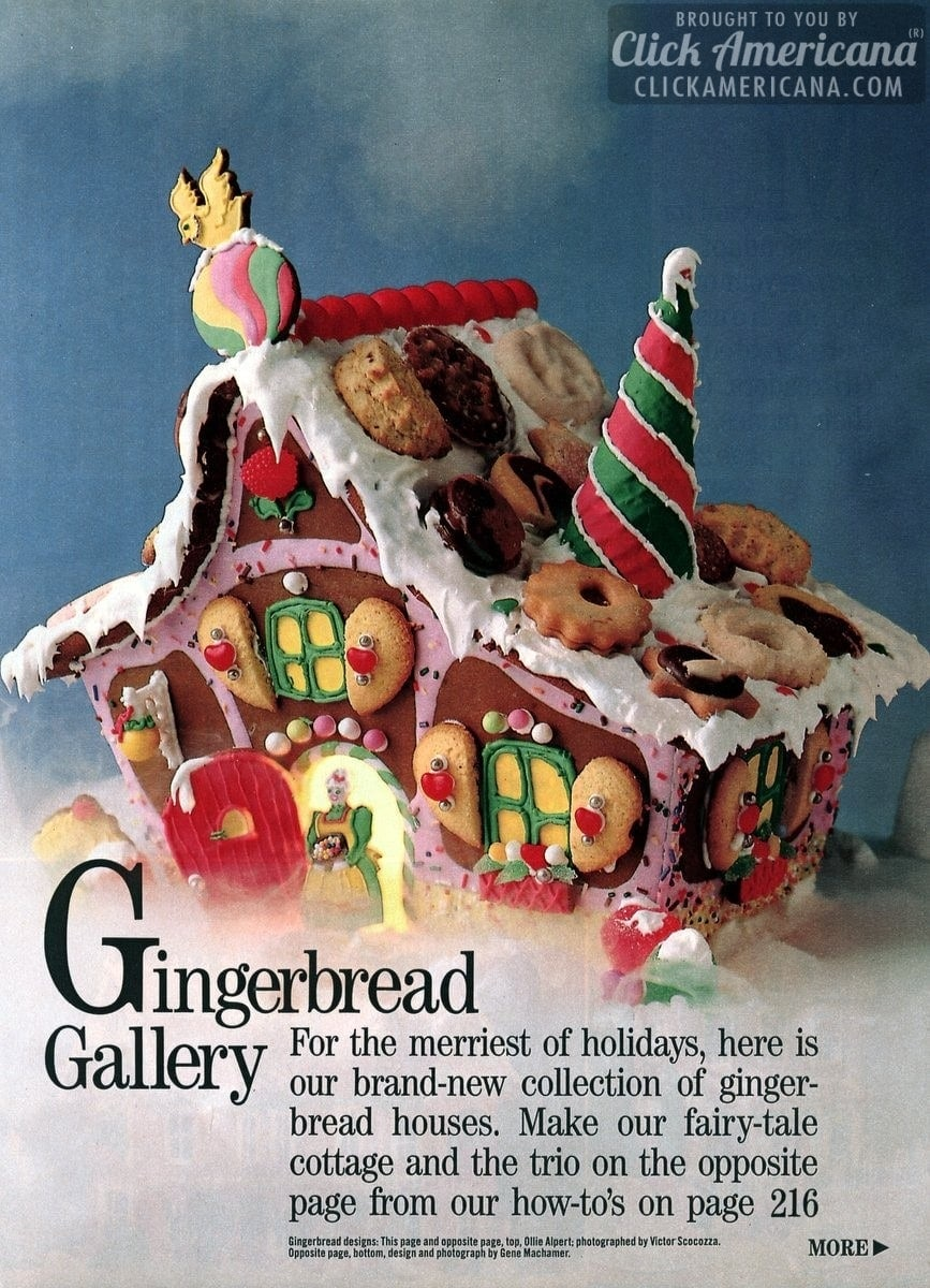Gingerbread house gallery: Christmas cookies & candy (1987)
