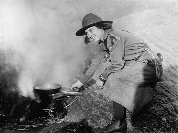Girl scouts in action (1920)