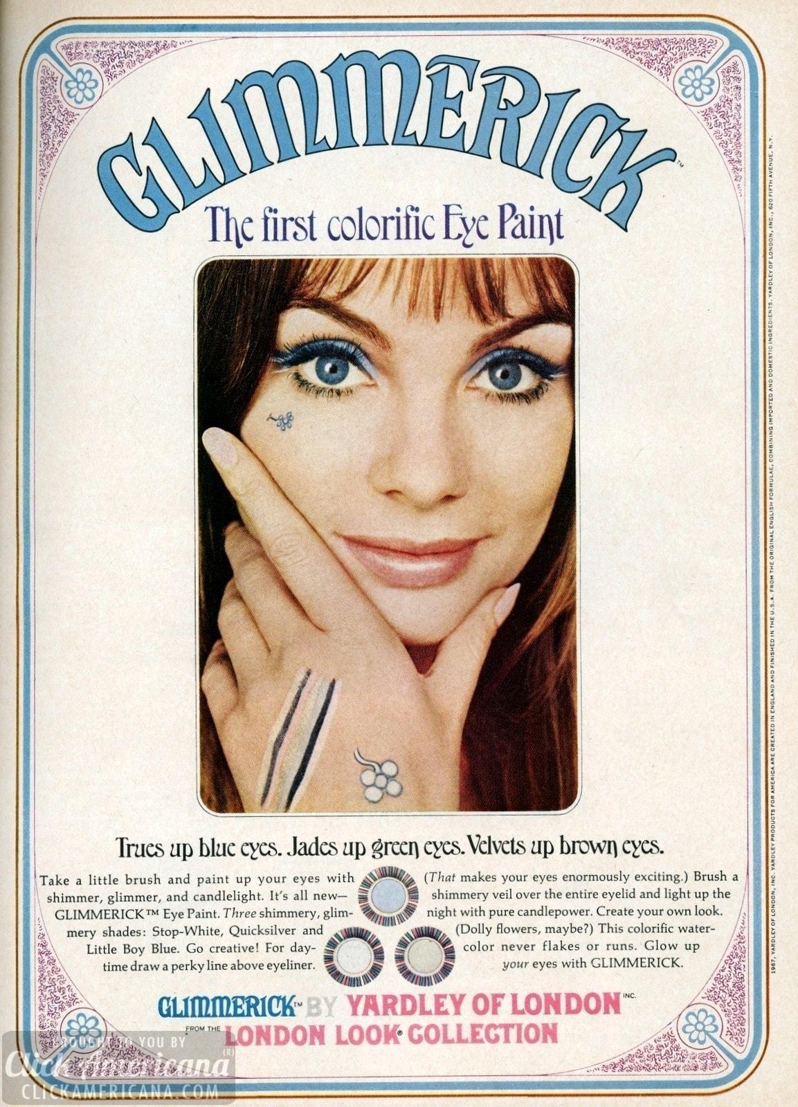 Glimmerick eye polish & eye paint makeup (1967)