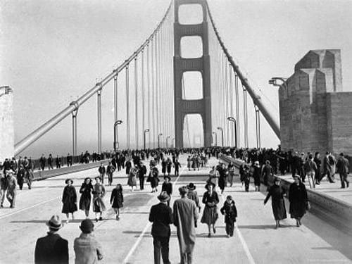 San Francisco's Golden Gate Bridge opens (1937)