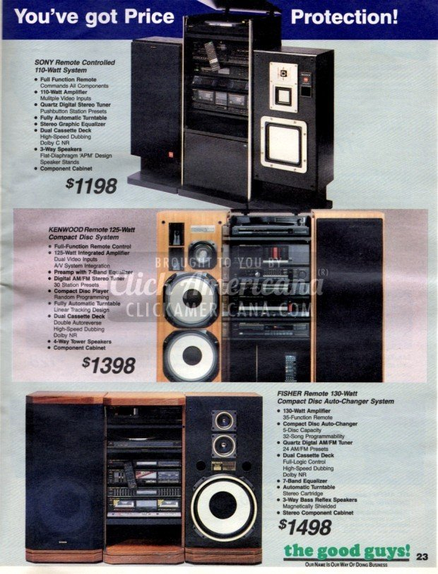 1987's hottest TVs, VCRs, stereos, cellular phones & more