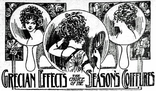 Grecian hairstyles the choice of the season (1910)