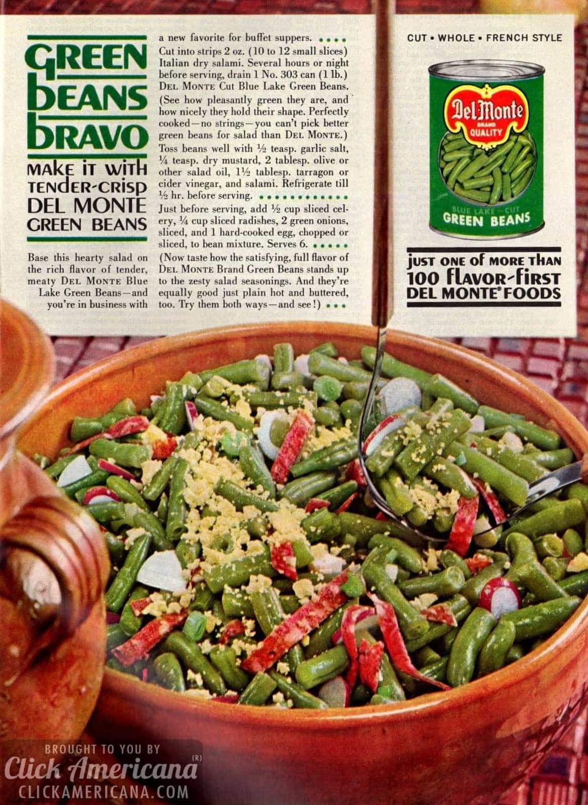 GREEN BEANS BRAVO 1961 CLICK AMERICANA