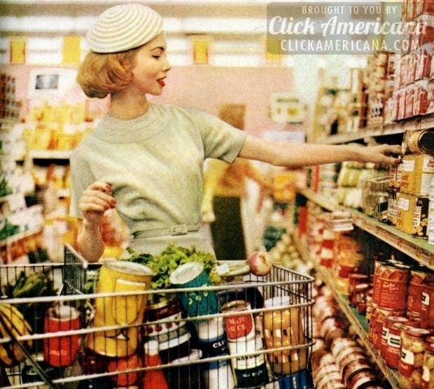 Inside grocery stores & supermarkets of yesteryear