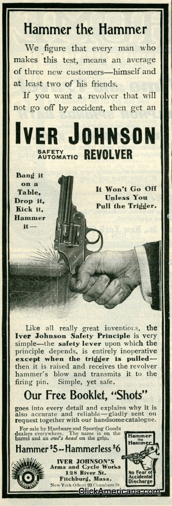 Guns: Winchester rifle & Iver Johnson revolver (1905)